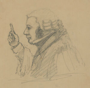 Set of Three Early 20th Century Drawings - Public Speaking