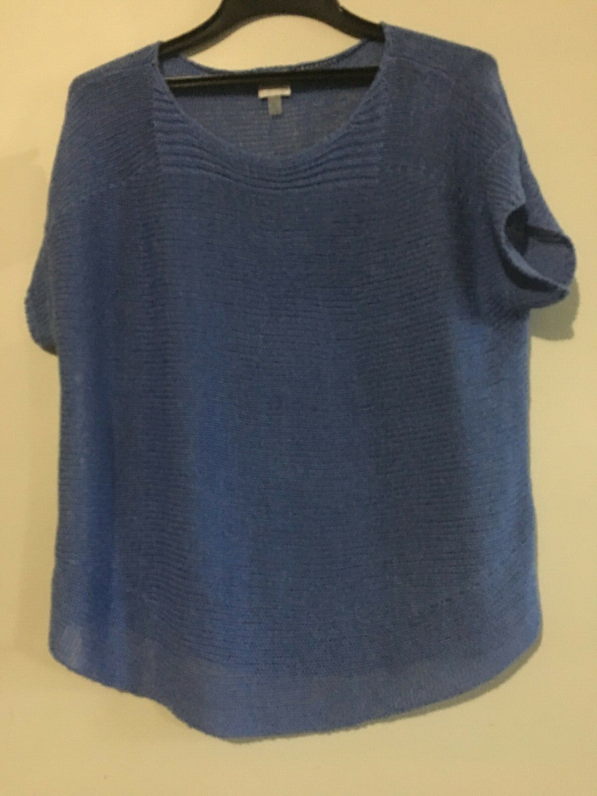 Cupio Sea bluee Knit Perforated Women Tunic Top Blouse Size XL Stylish RN