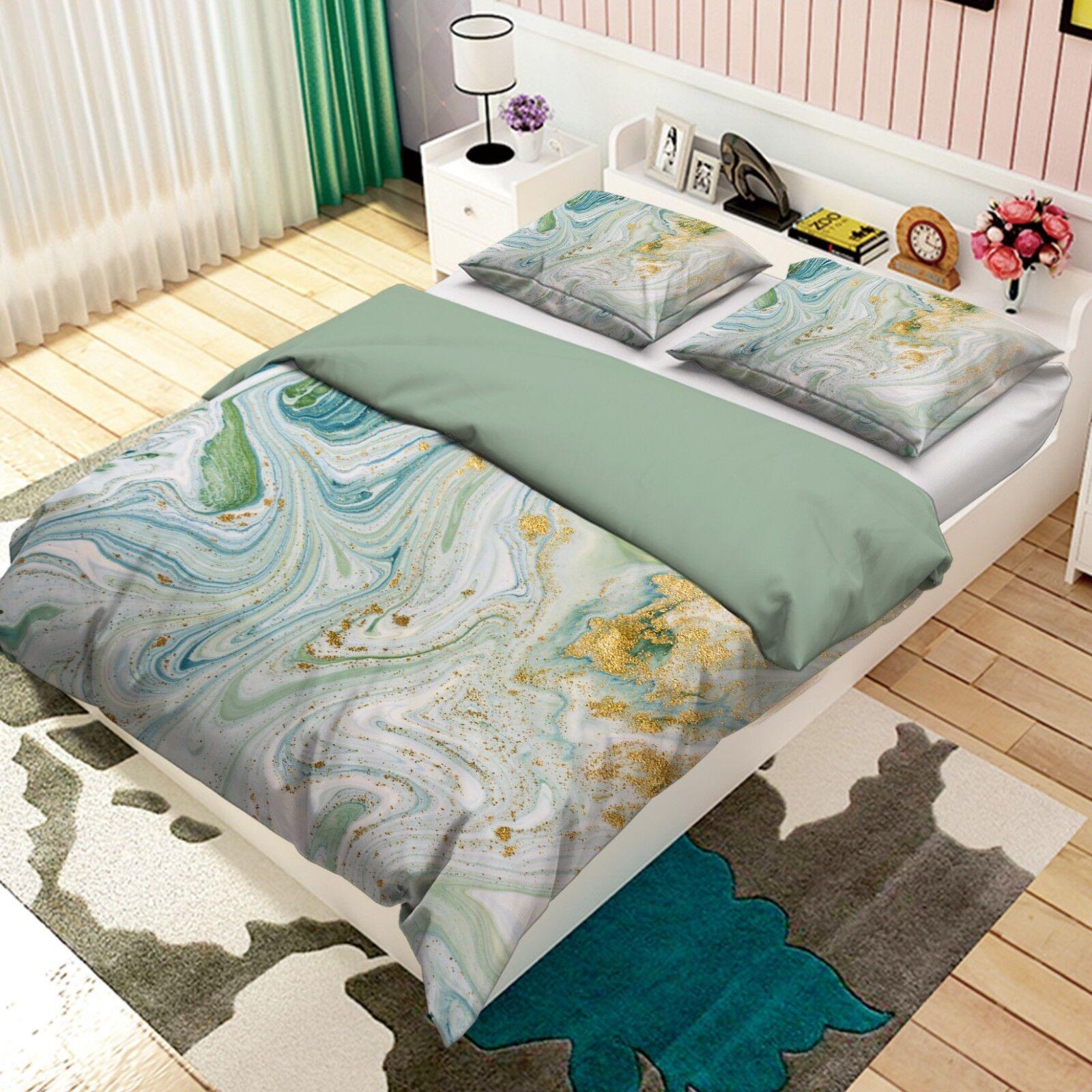 3D Schönes Textur Bild 4 Bett Kissenbezüge steppen Duvet Decken Set Single DE