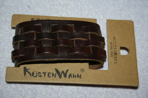 Fitness & Jogging 1267 Stylisches Lederarmband braun Damen Herren Surfer Armband echtes Leder. Bandagen & Gelenkstützen
