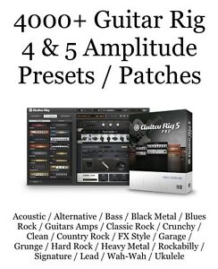 4000-Guitar-Rig-4-amp-5-Amplitude-Presets-Patches-Native-Instruments-Sample