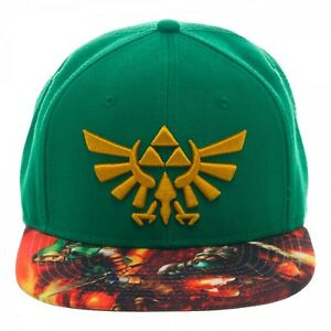 6c89bed2 Image is loading Nintendo-Zelda-Green-Twilight-Sublimated-Bill-Snapback -Adult-
