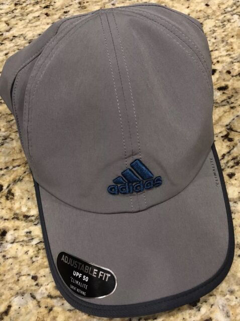 923261bf83b0a ADIDAS CLIMALITE MENS Superlite Pro Tennis Cap Grey Blue Reflective  5143508