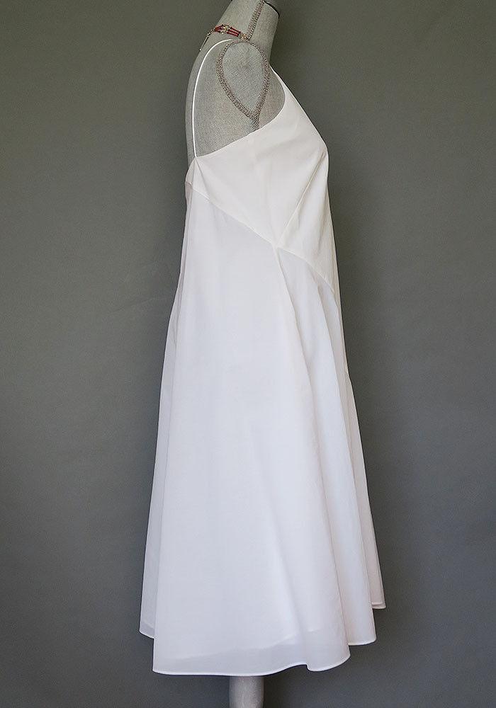 Max Mara White Midi Spaghetti String A-line dress Size 2 2 2 Size 6   MSRP  995.00 fa2757