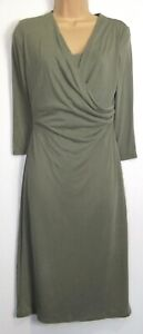 New-Marks-amp-Spencer-Per-Una-Soft-Drape-Mock-Wrap-Dress-Uk-size-8-16