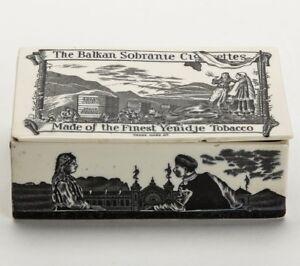 CERAMIC-TOBACCO-ADVERTISING-BOX-BALKAN-SOBRANIE-c-1885