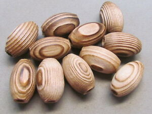 10 Wood 24x15mm Beads(G66AH34)