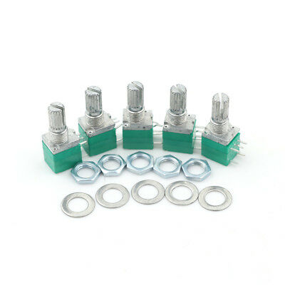 5x 5pin RV097NS Single Linked Potentiometer B10K für Audio//VerstärkerZP