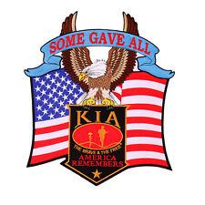 KIA Eagle  EMROIDERED IRON ON  Military PATCH