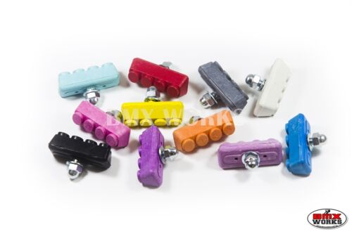 Sold In Pairs Old School BMX Tuffs Various Colours BMX Coloured Brake Pads