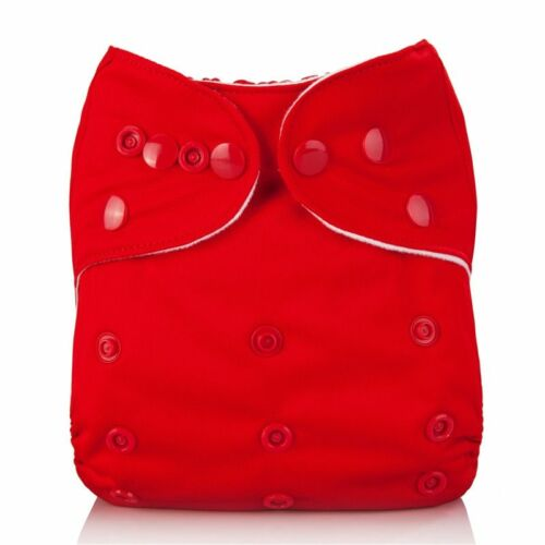 Mumsbest Reusable Baby Cloth Diaper washable Solid Color Baby Nappy One Size