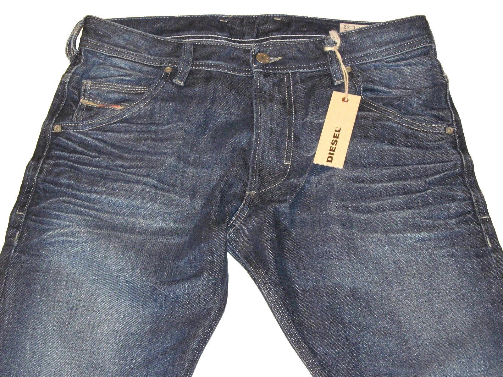 NWT DIESEL Mens 29Wx32L KROOLEY 0073N Regular Slim-Carred bluee Jeans  MSRP