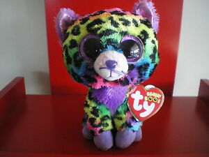 Ty Beanie Boos TRIXIE leopard 6 inch NWMT. Justice Exclusive.LIMI<wbr/>TED QUANTITY.