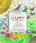 Portable Color Me Happy Coloring Kit Includes Book Colored Pencils and Twistab
