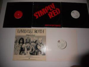 David-Lee-Roth-Simply-Rose-Rick-Astley-Paul-Simon-12-034-DJ-Mix-5-EP-Lot-L-Mint