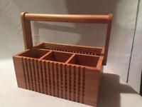 Picnic Totally Bamboo Silverware Box Tote Handle Wedding Gift