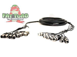 XLR Snake Cable Patch - Fat Toad 8-Channel Pro Audio Mic Cord Mixer Sound Stage
