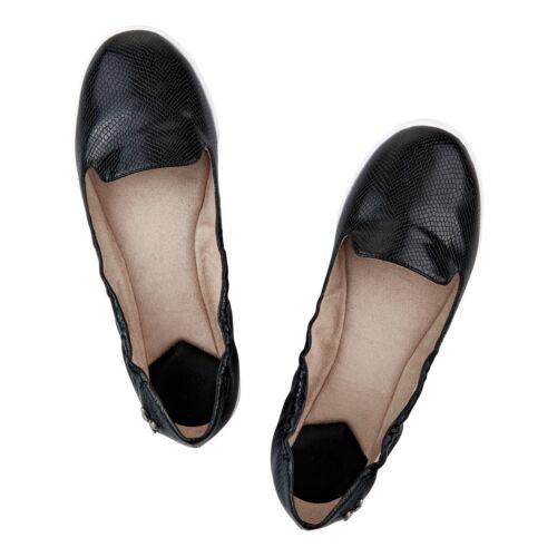 Damen Schmetterling Wendungen Jade schwarz Schlange Ballerina Pumps Flache