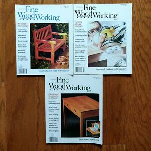 Fine-Woodworking-Magazine-Lot-1998-Half-Year-3-Issues-Old-Furniture-Design-Plans