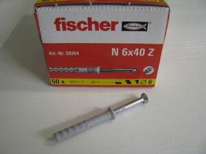 500 Fischer Nageldübel N 6x40 Z - Deutschland - 500 Fischer Nageldübel N 6x40 Z - Deutschland
