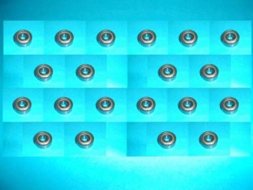 20 estrías campamento bola 609 rodamientos de bolas ZZ//2z//2zr nuevo