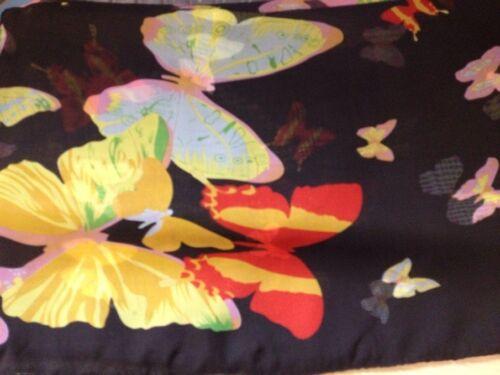 New Silk Feel Butterfly Print Shawl Scarf 6 Colour