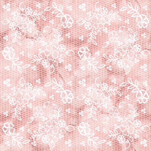 """Magnifique /""""Floral Papillon/"""" corail Toile Imprimé Tissu Feuille.. cheveux arcs Artisanat"""