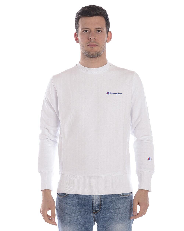 Champion Sweatshirt Hoodie Man White 214032 WW001 Sz. S PUT OFFER