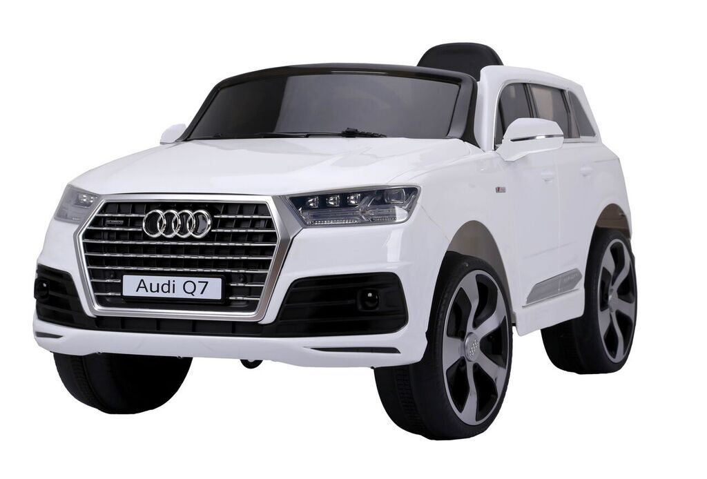 Audi Q7 Kinder Elektro Auto JEEP SUV Geländewagen Kinderfahrzeug 12V weiß NEU