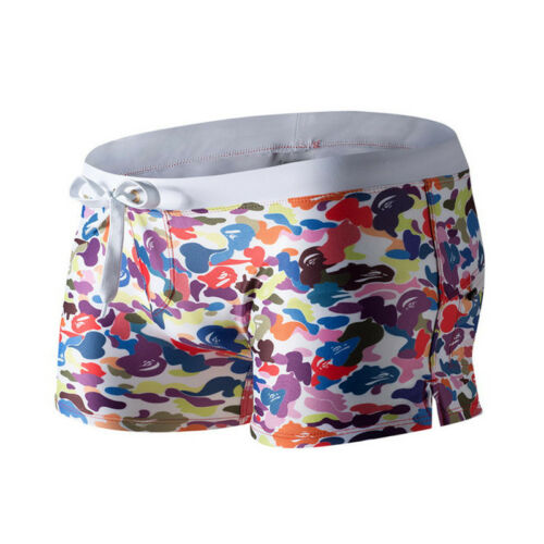 Zipper Pocket Swimming Trunks Men/'s Boxer Swimwear Shorts Print Bikini Swim Suit