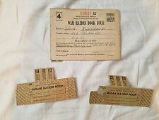 US War Ration Book Four 644941 Estate Item With Stamps  Used