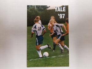 faf414b21aa Image is loading Yale-University-Bulldogs-1997-Womens-Soccer -Pocket-Schedule-