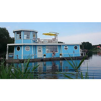 Neuer Preis!  Hausboot, Wohnschiff , Unikat, ca 14,95 x 5,45 m , winterfest