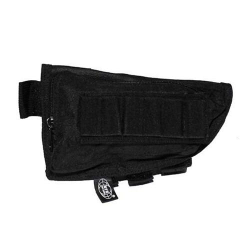 Rifle Stock Pouch Stock Bullet Pouch Black Airsoft Shooting Mfh High 30785A