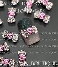 #CA114  Nail Art Decoration AlloyJewelry Slice  Glitter Rhinestone Bow Knot