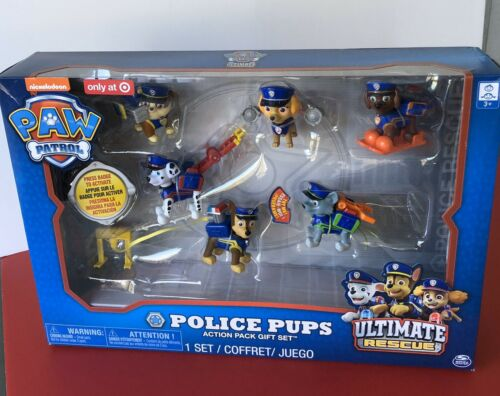NEW Paw Patrol Police Pups Action Pack Gift Set Ultimate Rescue