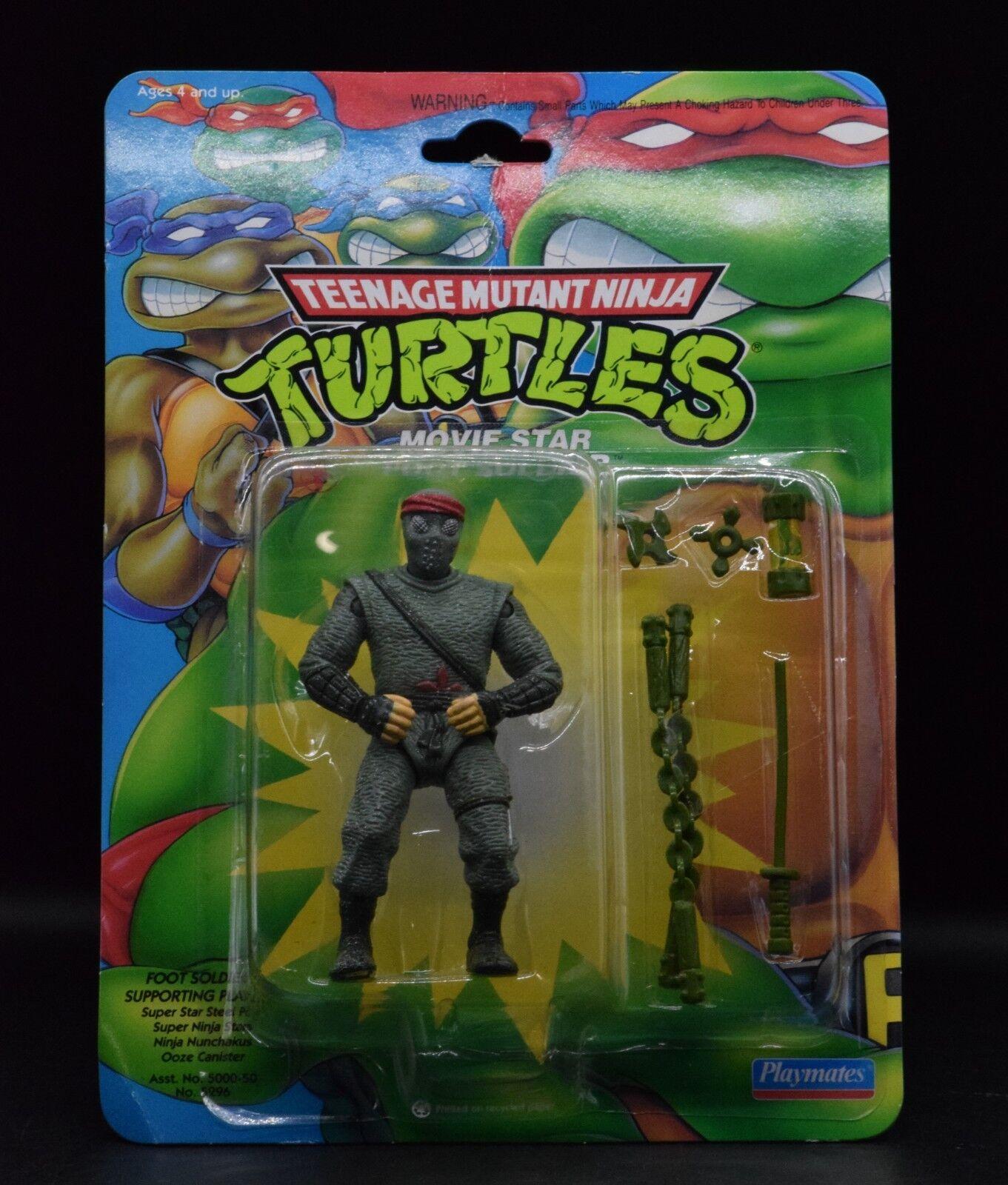 1992 Jugarmates Teenage Mutant Ninja Turtles estrella de cine de improviso Teenage Mutant Ninja Turtles menta en tarjeta MIP