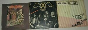 Aerosmith-LP-Record-Lot-Toys-in-the-Attic-Get-Your-Wings-Bootleg-Live-Rock