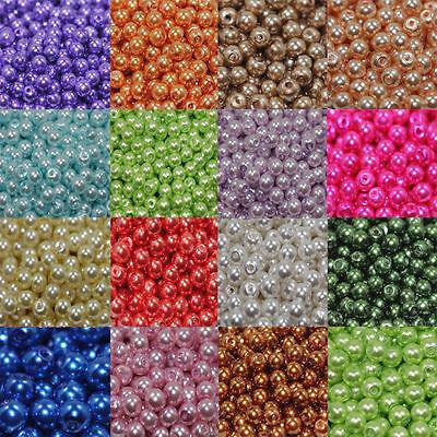 31'' Strand Czech Glass Pearl Round Beads 3mm 4mm 6mm 8mm 10mm 12mm 14mm 16mm