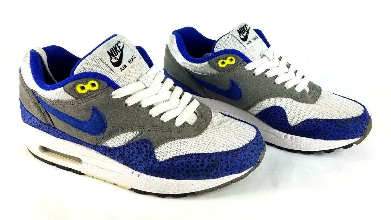 Nike Men's 2009 Air Max 1 Safari Hyper Blue Shoes DS RARE   [308866-142], Size 7
