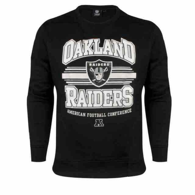 Majestic Athletic Mens Oakland Raiders Fredline Sweatshirt NFL Black Size S - XL