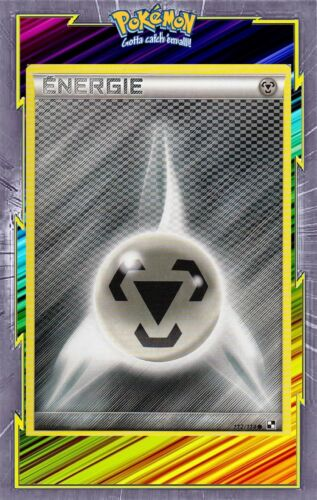 black and white Energie metal-n/&b French designer card pokemon 112//114