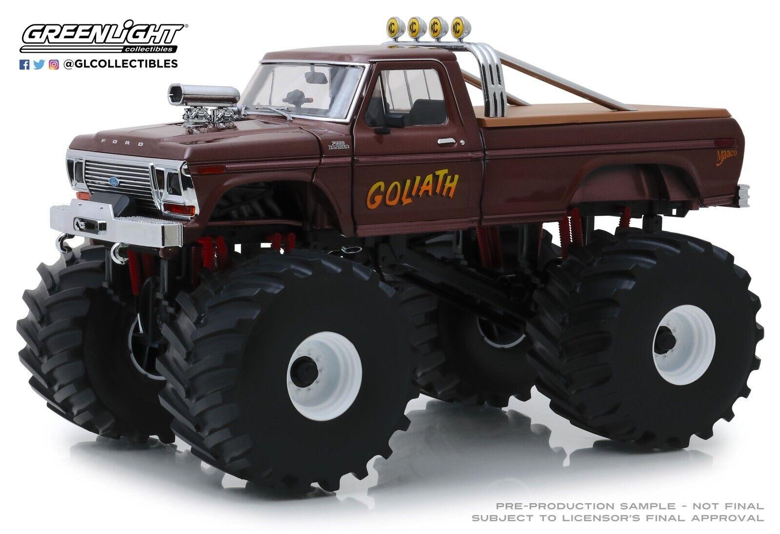 primera vez respuesta 1979 Ford F-250 camión Goliat Goliat Goliat verdelight 1 18 Diecast Pre-orden en Caja Como Nuevo  ventas en linea