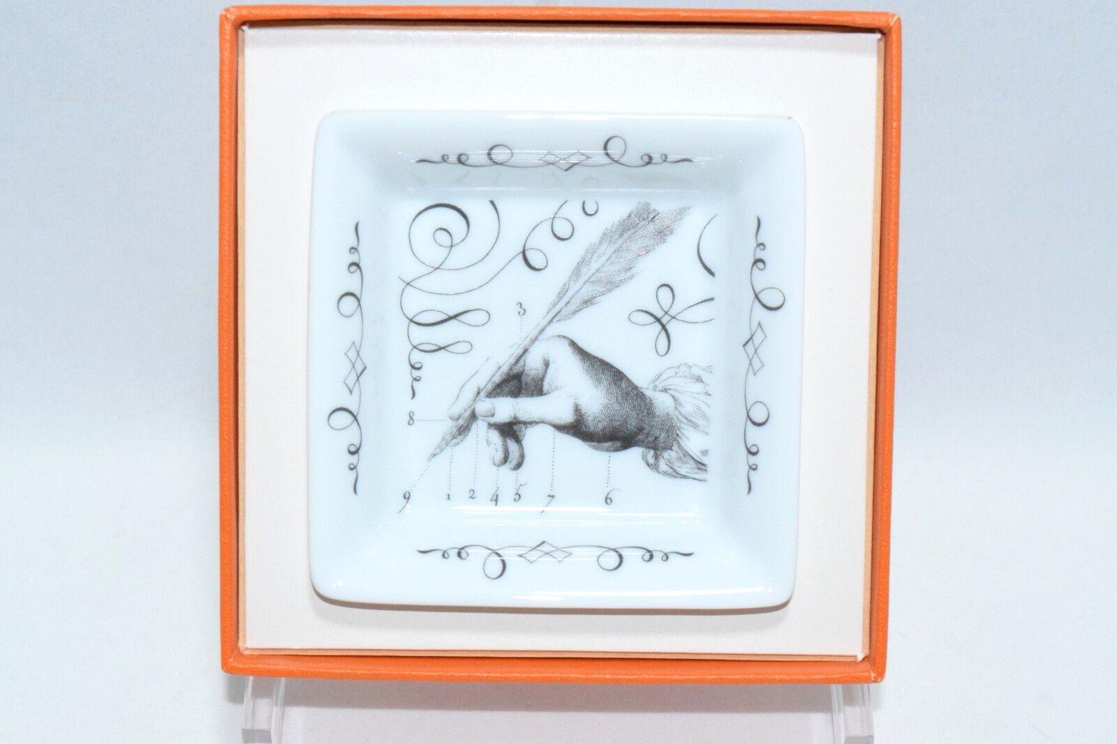 Hermes Quill Pen porcelaine mini cendrier Dinnerware changement plateau petit YA6