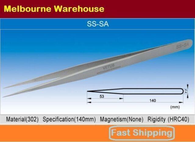 VETUS Original Genuine High Quality Stainless Steel Switzerland Tweezers SS-SA