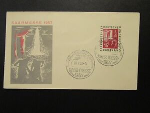 Germany-SAAR-1957-SAAR-MESE-15F-First-Day-Cover-Z6805