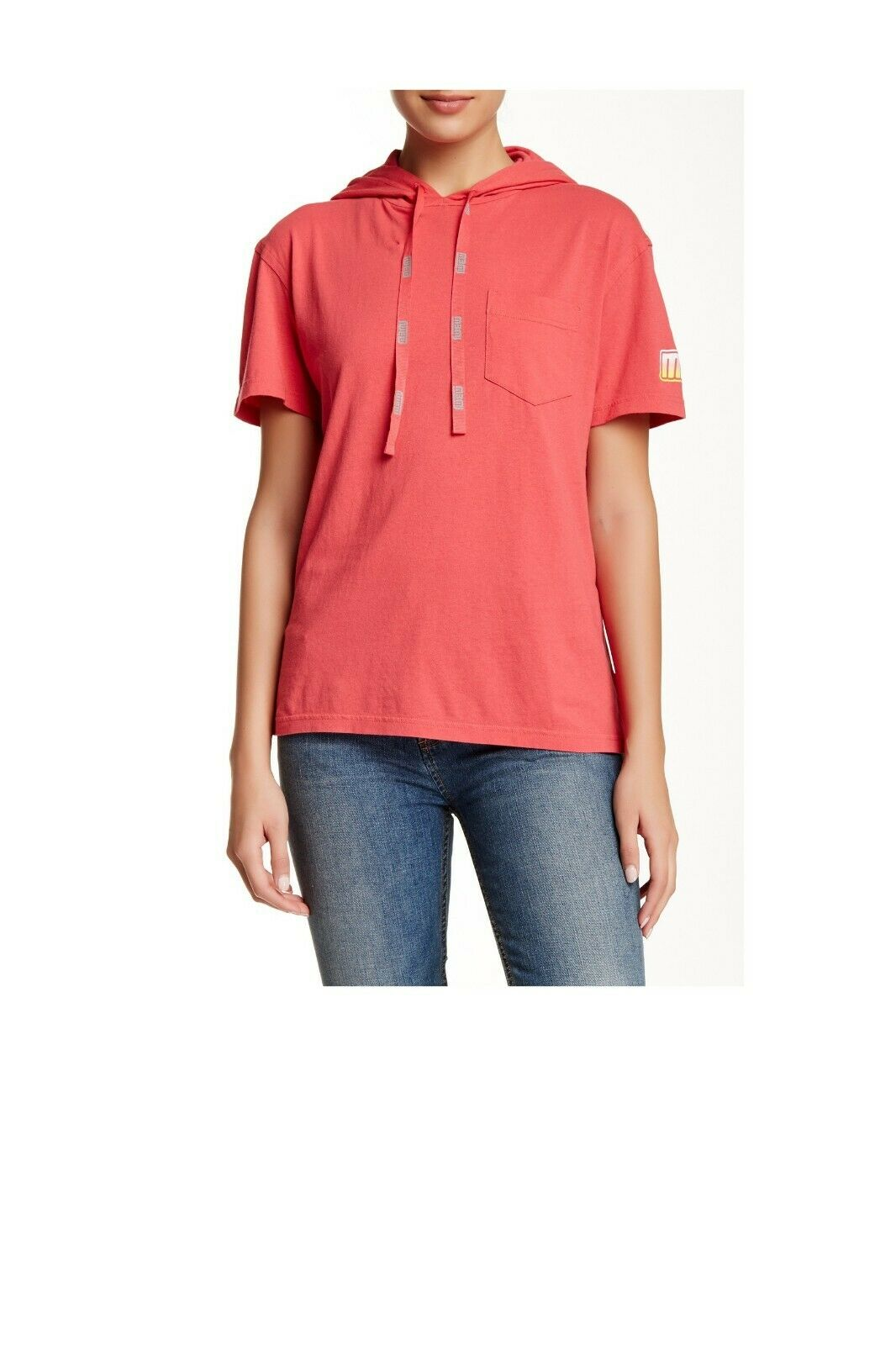 Marc Jacobs Hooded Sporty Tee DUSTY RED NWT SIze XS