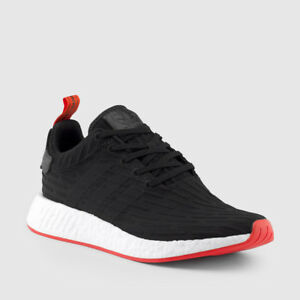 8b15b545a232 Adidas NMD R2 PK Nomad Primeknit Black Red White two toned BA7252 ...