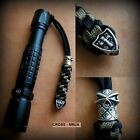 Tactical Knife Lanyard Paracord 550 Skull Ninja Shield Cross Beads Survival EDC