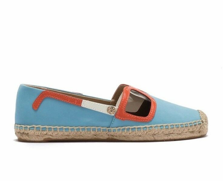 NIB Tory Tory Tory Burch Sunny Espadrille Leather Slip-On Flat shoes (Size 6) ad1265
